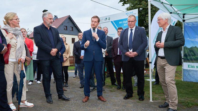 Ministerpräsident Michael Kretschmer erteilt den Startschuss